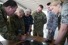 ROCKHAMPTON, Queensland (July 11, 2011) Combined service members from Australia and the U.S. review safety procedures at the beginning of exercise Talisman Sabre 2011. (U.S. photo by Navy Petty Officer Thomas E. Coffman)