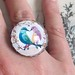 Lovebirds Vintage Inspired Ring