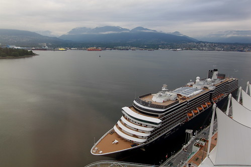 MS Zuiderdam docks at Canada Place cruise ship terminal