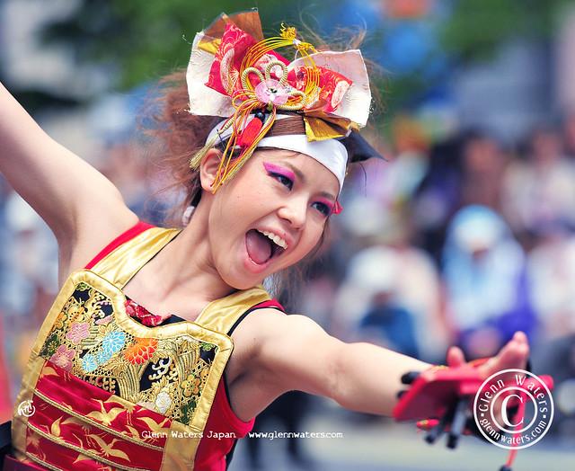 Yosaki Dance Festival Japan.  (Hirosaki Japan). © Glenn Waters.  Over 4,000 visits to this photo.   Thank you.
