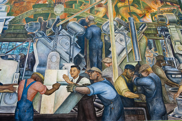 Diego rivera mural at the detroit institute of arts for Diego rivera mural detroit