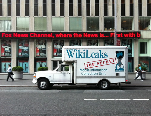 WikiLeaks Truck at Fox News Channel