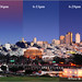 San Francisco night light view study by davidyuweb