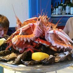 crab(0.0), lobster(0.0), fish(0.0), cuisine(0.0), spiny lobster(1.0), animal(1.0), seafood boil(1.0), seafood(1.0), invertebrate(1.0), food(1.0), dish(1.0),