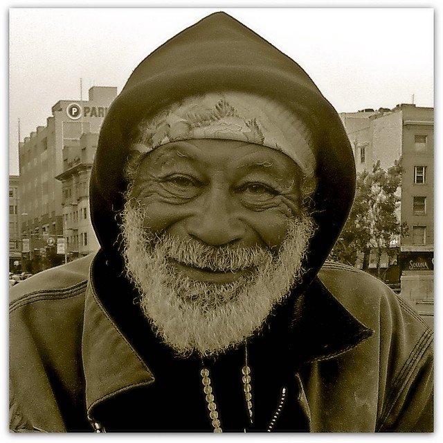 Happy homeless man | Flickr - Photo Sharing!