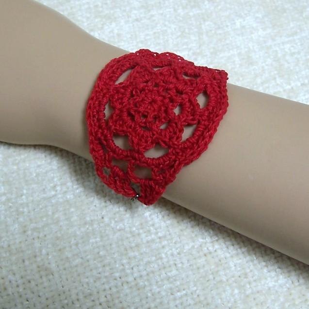 crochet bracelet on Etsy, a global handmade and vintage marketplace.