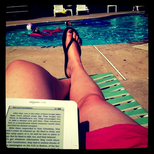 A perfect afternoon for reading by the pool. This? Is why we took this trip.
