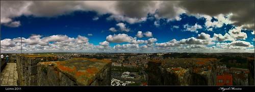 city cidade castle portugal town view castelo vista leiria