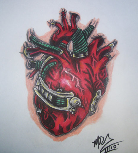 Biomechanical Heart Tattoo Pictures: Explore TattoosByMikeD's Photos On
