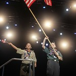 American Scouts Present the Colors at the 2011 World Scout Jamboree