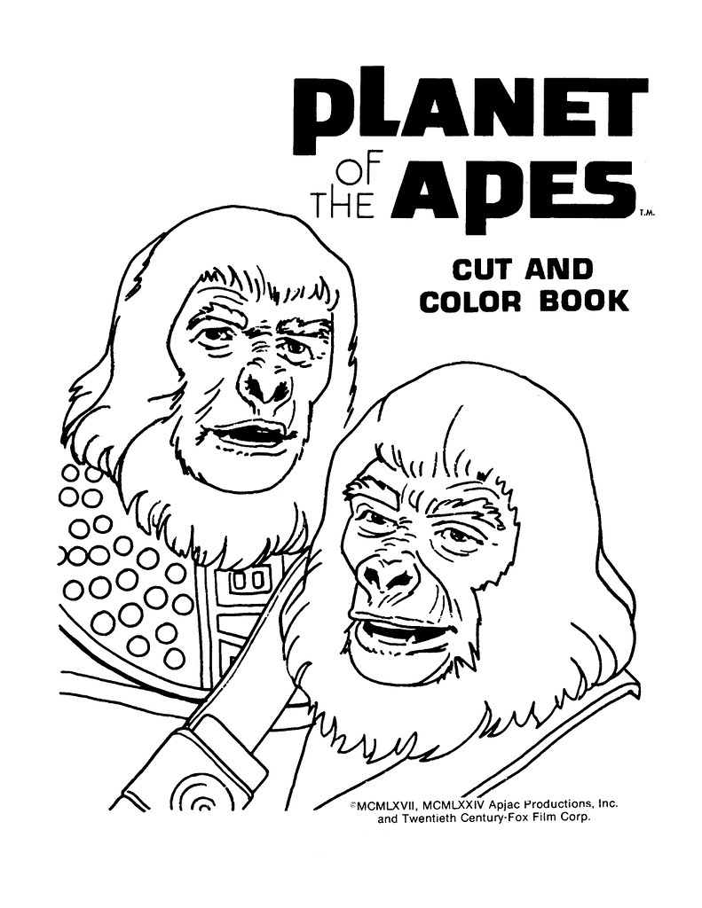 Planet of the Apes Cut & Color Book00002