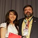 Fri, 2011-07-22 15:06 - Team Canada-MILSET member Joy Liu receives an award to participate in I-SWEEEP 2012 in Houston, Texas from Don Howk of MILSET USA.