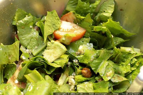 salad w/romaine lettuce c/o jim craig