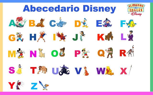 Abecedario En Letras De Disney