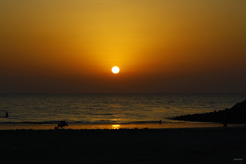 Sunset on the beach - Ajman, UAE
