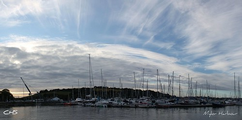Panoramic Mylor Harbour by Stocker Images