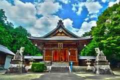 A small shrine (若宮八幡社) in Toyota south, Aichi, Japan (HDR)... JTM Photo No.69