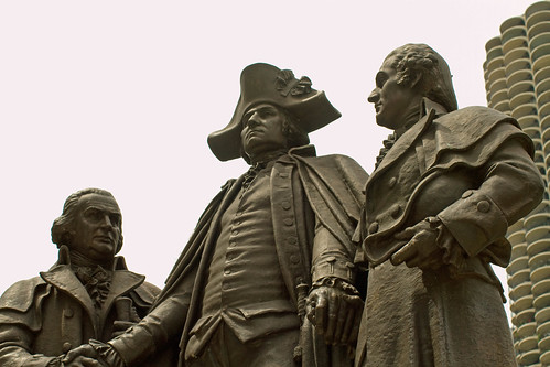 Washington, Morris, and Solomon Statue in Chicago
