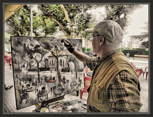 Sant guim de freixenet fotos pintores pintando paisajes pintor ernest descals flickr photo - Pintores en lleida ...