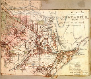 M4631 Map of the Country around Newcastle NSW, 1910.