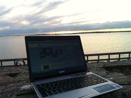 Sunset blogging