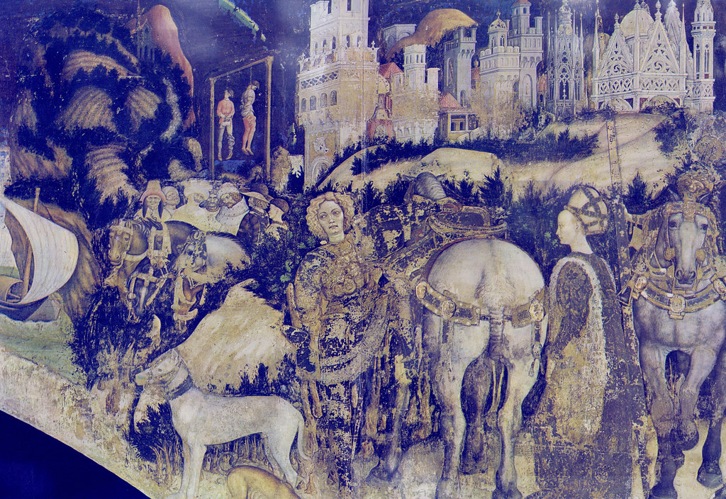 Pisanello - Saint George, the dragon and the princess of Trebizond (~1437)