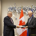 Mr H. David Plunkett, Head of the Mission of Canada to the European Union, presents his credentials to the President of the European Council, 27 September 2011