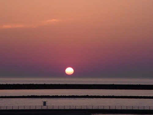 Sunset of Kashiwazaki, 柏崎の夕日
