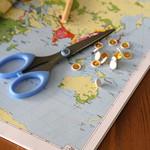 Pinwheel from atlas paper