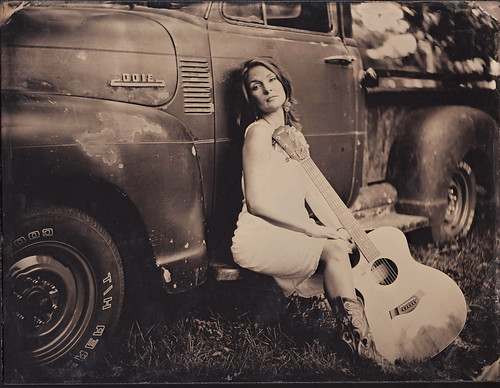 Nashville tintype portrait photography guitar music tanya davis
