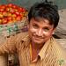 Male Vendor With Tomatoes - Srimongal Market, Bangladesh