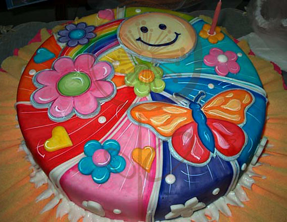 Torta de cumple Mariposa y Flores | Flickr - Photo Sharing!
