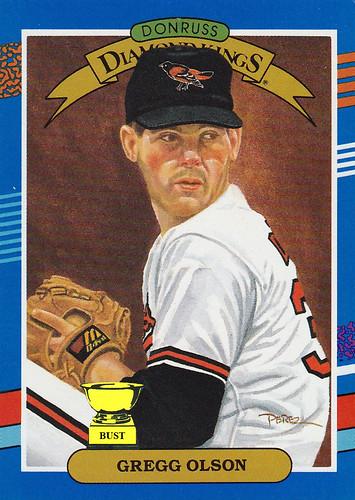 Baseball Card Bust Gregg Olson 1991 Donruss Diamond Kings
