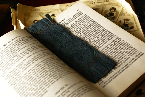 tilly's leather bookmark