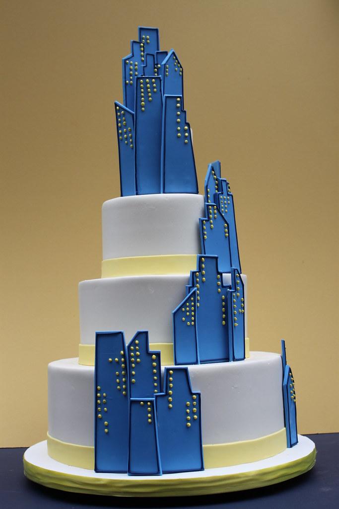 Chicago Skyline City Cake Ideas And Designs
