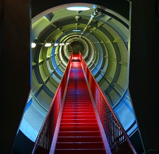Atomium Brussels-Stairs and escalators.