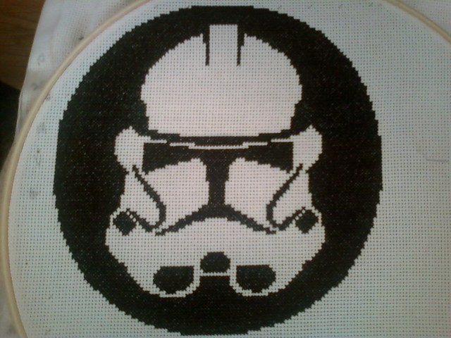 Clone Trooper (EpIII) Cross Stitch