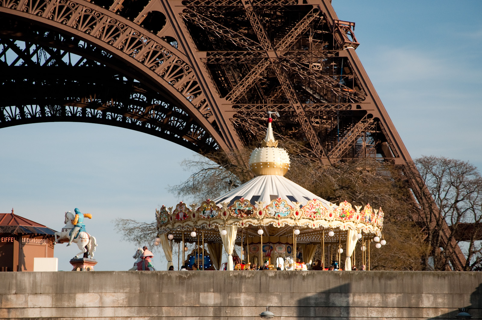 Carousel beneath the Eiffel Tower - Carousels in Europe