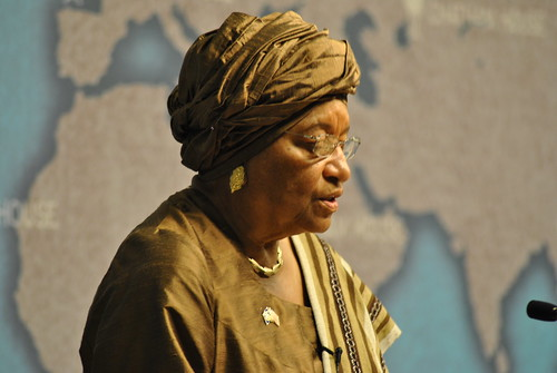 Liberia President Ellen Johnson Sirleaf photo
