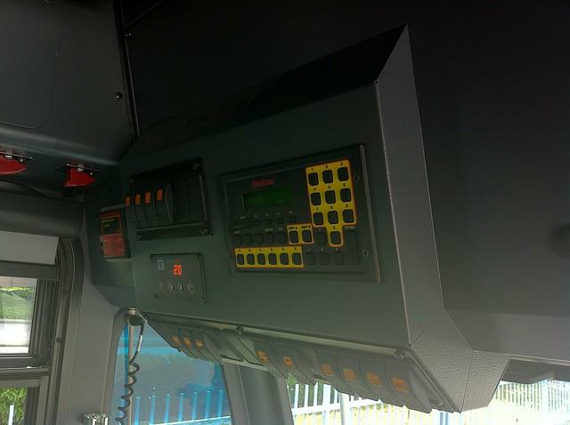 Control panel on the Nova Bus LFX