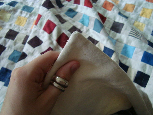 Pillowcase binding tutorial 5