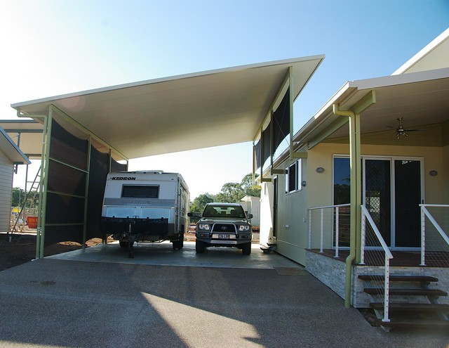 Oversize rv port flickr photo sharing for Motorhome garage kits