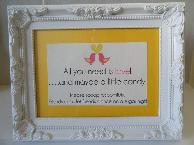 Instructions Candy Buffet Sign