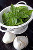 garlic and basil