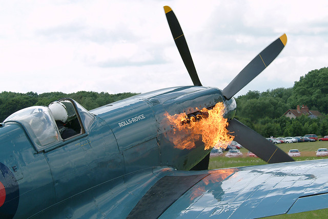 Spitfire Engine Fire | On 10th July 2011, Doug Field while ...