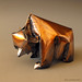 BEAR 1997.  (copper sheet) by Zsebe Origami