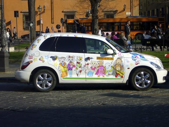 Un beau taxi à Florence