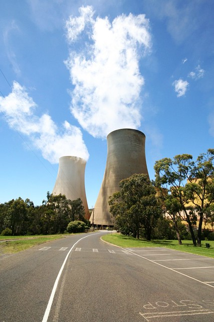 Cooling towers at Yallourn Power Station