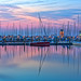 Boats at Dawn in St Petersburg Marina by Photomatt28