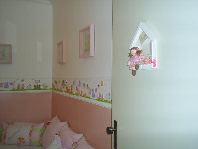 Decoracao Vintage Quarto Masculino ~ Parede com pa?as em madeira e pintura quarto de bebe menina rosa